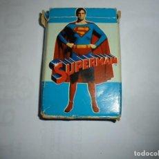 Barajas de cartas: BARAJA FOURNIER SUPERMAN COMPLETA SIN INSTRUCCIONES CAJA AJADA. Lote 142265162