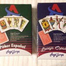 Barajas de cartas: LOTE 2 BARAJAS NUEVAS ANGEL E NAIPES PÓKER ESPAÑOL Y BARAJA ESPAÑOLA SIN ABRIR. Lote 143334698