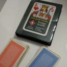 Barajas de cartas: DOS BARAJAS DE POKER. ROMMÉ. Lote 143496322