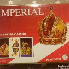 Barajas de cartas: JUEGO DE 2 BARAJAS DE POKER - CARTAS - NAIPES - IMPERIAL Nº 2139 - PLATNIK - AUSTRIA . Lote 143565926