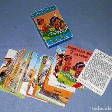 Barajas de cartas: CARTAS FAMILIAS DE 7 PAISES COMPLETA ORIGINAL DE FOURNIER VER FOTOS Y DESCRIPCION. Lote 143741122