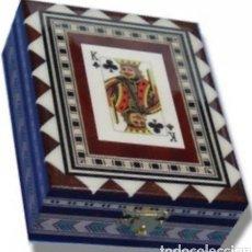 Barajas de cartas: ESTUCHE TARACEA PARA BARAJA POKER. Lote 143948012