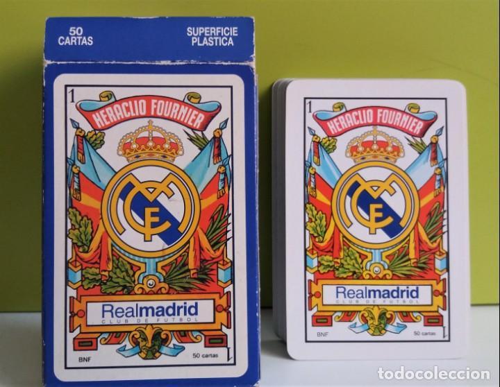 BARAJA / NAIPES DE CARTAS REAL MADRID,HERACLIO FOURNIER (Juguetes y Juegos - Cartas y Naipes - Otras Barajas)