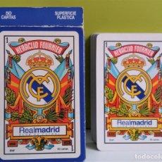 Barajas de cartas: BARAJA / NAIPES DE CARTAS REAL MADRID,HERACLIO FOURNIER. Lote 144221218