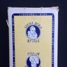 Barajas de cartas: BARAJA FRANCESA PUBLICIDAD LUCAS BOLS. Lote 144294352