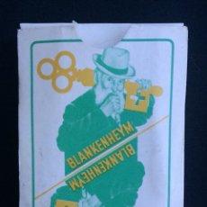 Barajas de cartas: BARAJA FRANCESA PUBLICIDAD BLANKENHEYM. Lote 144294418