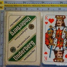Barajas de cartas: BARAJA DE CARTAS SKAT ALEMANIA ALEMANA. SCHMID. BEBIDAS, LICOR UNDERBERG. 70 GR. Lote 144568650