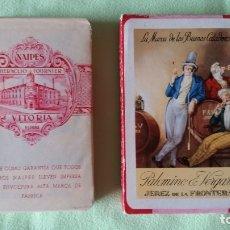 Barajas de cartas: BARAJA NAIPES FOURNIER BRANDY PALOMINO Y VERGARA - JEREZ - AÑOS 40. NUEVA SIN USO. MUY BONITA.. Lote 143306058