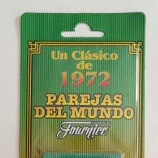 Barajas de cartas: BARAJA DE CARTAS PAREJAS DEL MUNDO, FOURIER UN CLÁSICO DE 1972 NUEVA. Lote 145175898