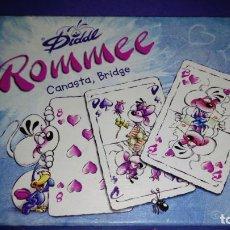 Barajas de cartas: ROMME, BRIDGE, CANASTA - DIDDL ROMME, BARAJAS DE POKER. Lote 145823462