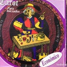 Baralhos de cartas: MAZO CARTAS TAROT ECONÓMICO CIRCULAR MARSELLA MARSELLES REDONDO NUEVO SIN USO. Lote 186052802
