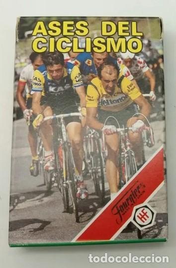 BARAJA DE CARTAS HERACLIO FOURNIER ''ASES DEL CICLISMO'' A ESTRENAR (Juguetes y Juegos - Cartas y Naipes - Barajas Infantiles)