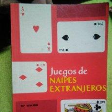 Barajas de cartas: LIBRO DE CARTAS JUEGOS DE NAIPES EXTRANJEROS ED. HERACLIO FOURNIER . VITORIA 1995. Lote 145901108