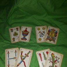 Barajas de cartas: MUY ANTIGUA BARAJA ESPAÑOLA HERACLIO FOURNIER NUMERO 55 LEER DESCRIPCIÓN. Lote 145919610