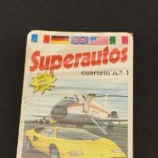 Barajas de cartas: BARAJA DE CARTAS SUPERAUTOS PRECINTADA. Lote 145962777