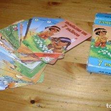 Barajas de cartas: BARAJA FAMILIES DE 7 PAISOS FAMILIAS DE 7 PAISES FOURNIER EN CATALAN MUY RARA. Lote 146019908