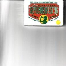Barajas de cartas: BARAJA DE POKER DE COCA COLA SEPTEMBERFEST' 96. Lote 146627722