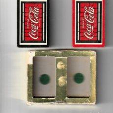 Barajas de cartas: BARAJAS DE POKER DE COCA COLA DRINKS. Lote 146634530