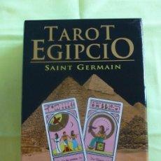 Barajas de cartas: BARAJA TAROT, CARTAS Y LIBRO TAROT EGIPCIO (PACK). SANNT GERMAIN - EDICIÓN 2008. Lote 146766718