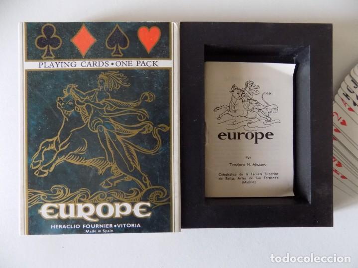 LIBRERIA GHOTICA. BARAJA EUROPE. HERACLIO FOURNIER 1980. ESTUCHE ESPECIAL. (Juguetes y Juegos - Cartas y Naipes - Otras Barajas)