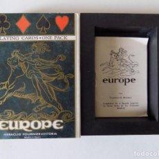 Barajas de cartas: LIBRERIA GHOTICA. BARAJA EUROPE. HERACLIO FOURNIER 1980. ESTUCHE ESPECIAL.. Lote 146796218