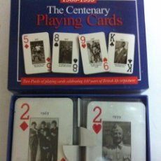 Barajas de cartas: THE CENTENARY- 2 BARAJA CARTAS (LONDON) - NUEVAS. Lote 147149110
