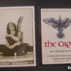 Barajas de cartas: JUEGO COMPLETO DE CARTAS DE EL CUERVO - THE CROW FIRMADAS POR JAMES O´BARR. Lote 147150642