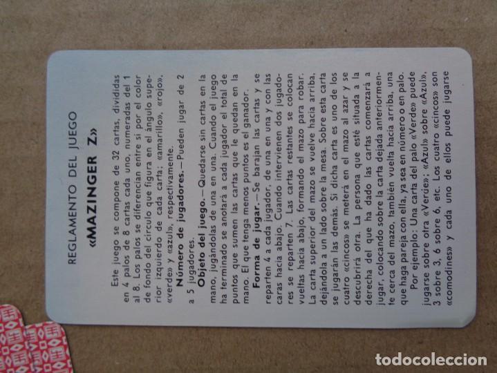 Barajas de cartas: baraja de fournier de mazinger z con caja en muy buen estado - Foto 15 - 147390858