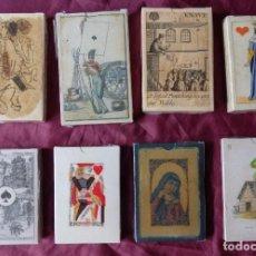 Barajas de cartas: LOTE COLECCION DE 8 BARAJAS DE CARTAS ANTIGUAS FACSIMIL COLECCION. Lote 147558614