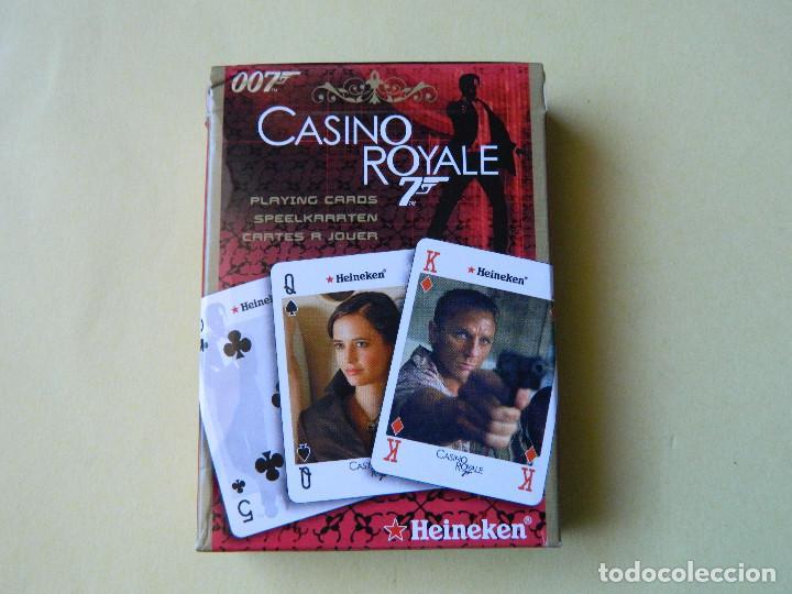 BARAJA DE POKER CASINO ROYALE DE HEINEKEN, NUEVA SIN USAR, (Juguetes y Juegos - Cartas y Naipes - Barajas de Póker)