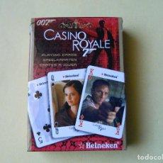 Barajas de cartas: BARAJA DE POKER CASINO ROYALE DE HEINEKEN, NUEVA SIN USAR,. Lote 147679434