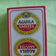Barajas de cartas: BARAJA NAIPES FOURNIER CERVEZA AGUILA AMSTEL- NUEVA PRECINTADA. Lote 147735910