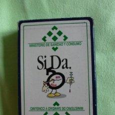 Barajas de cartas: BARAJA NAIPES FOURNIER SIDA MINISTERIO DE SANIDAD Y CONSUMO - 40 CARTAS. Lote 147741730