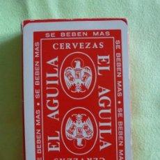 Barajas de cartas: BARAJA NAIPES FOURNIER CERVEZAS EL AGUILA - PRECINTADA. AÑOS 70.. Lote 147746906