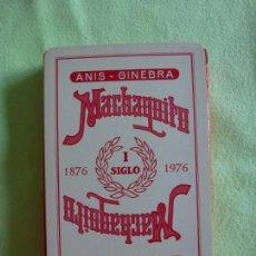 Barajas de cartas: BARAJA NAIPES FOURNIER ANIS - GINEBRA MACHAQUITO. AÑOS 70.. Lote 147748522
