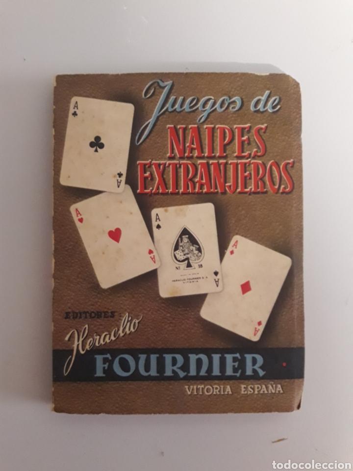 HERACLIO FOURNIER. ANTIGUO LIBRITO DE 1950. JUEGOS DE NAIPES EXTRANJEROS. (Juguetes y Juegos - Cartas y Naipes - Otras Barajas)