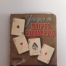 Barajas de cartas: HERACLIO FOURNIER. ANTIGUO LIBRITO DE 1950. JUEGOS DE NAIPES EXTRANJEROS.. Lote 147754736