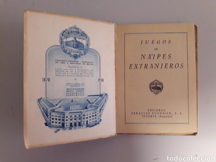 Barajas de cartas: HERACLIO FOURNIER. ANTIGUO LIBRITO DE 1950. JUEGOS DE NAIPES EXTRANJEROS. - Foto 3 - 147754736