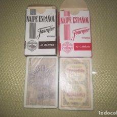 Barajas de cartas: 2 BARAJAS DE PUBLICIDAD HERACLIO FOURNIER BRANDY ESPLÉNDIDO Y ENTREFINOS JAVA MIREN FOTOS . Lote 147754978