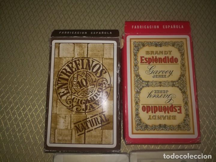 Barajas de cartas: 2 barajas de publicidad heraclio Fournier brandy espléndido y entrefinos java miren fotos - Foto 6 - 147754978