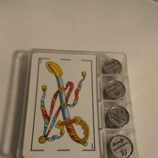 Barajas de cartas: BARAJA ESPAÑOLA PUBLICITARIA BRANDY TORRES 10 CON FICHAS.. Lote 147861290