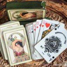 Barajas de cartas: ANTIGUA BARAJA DE CARTAS MODERNISTA - Nº 130 - MARGUERITE - DOUGHERTY - NEW YORK - AÑOS 20 - RARA. Lote 147949138
