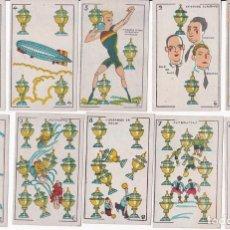Barajas de cartas: BARAJA PERSONAJES AÑOS VEINTE - CINE MANUAL EN LAS TRASERAS. Lote 148018966