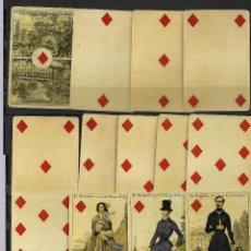 Barajas de cartas: A150- BARAJA DE CARTAS IMPERIAL FRANCESA SIGLO XIX DE 1860 - REPRODUCCION AUTORIZADA. Lote 148845658