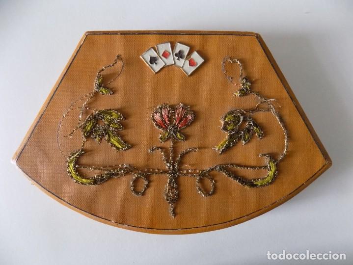Barajas de cartas: LIBRERIA GHOTICA. EXCELENTE BARAJA ANTIGUA DE POKER ART DECÓ.1920. INCLUYE FICHAS. - Foto 2 - 148854738