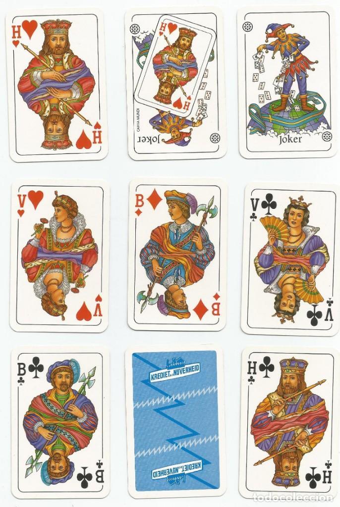 BARAJA DE POKER BELGA-PUBLICITARIA DE KREDIET AD NUVERHEID-VER FOTOS (Juguetes y Juegos - Cartas y Naipes - Barajas de Póker)