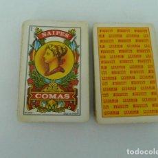 Barajas de cartas: ANTIGUO JUEGO DE CARTAS NAIPE ESPAÑOL PUBLICIDAD PIRELLI. NAIPES COMAS. DIFICIL. Lote 149355626
