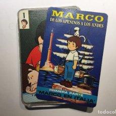Barajas de cartas: BARAJA MARCO DE LOS APENINOS A LOS ANDES, COMPLETA. Lote 207739963