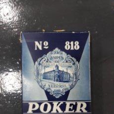 Barajas de cartas: BARAJA DE POKER N 818 VITORIA.TIMBRE SOBRE NAIPES.3 PESETAS. CON SU PRECINTO.. Lote 149590225