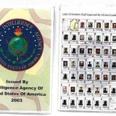 Barajas de cartas: RARA BARAJA DE INTELLIGENCE AGENCY OF UNITED STATES OF AMERICA PERSONAJES. Lote 172813548